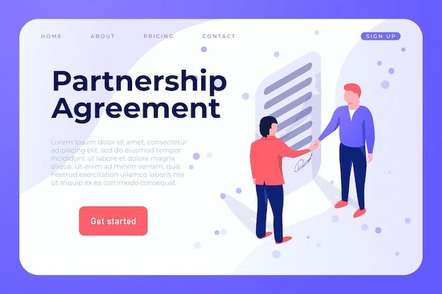 Modelo de web de acordo de parceria