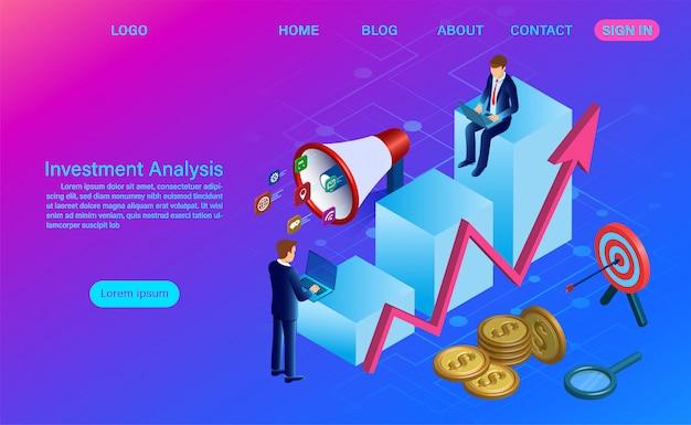Modelo de web de análise de investimento