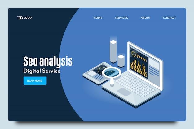 Modelo de web de análise de seo
