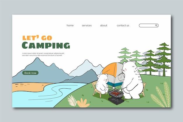 Modelo de web de aventura desenhado à mão