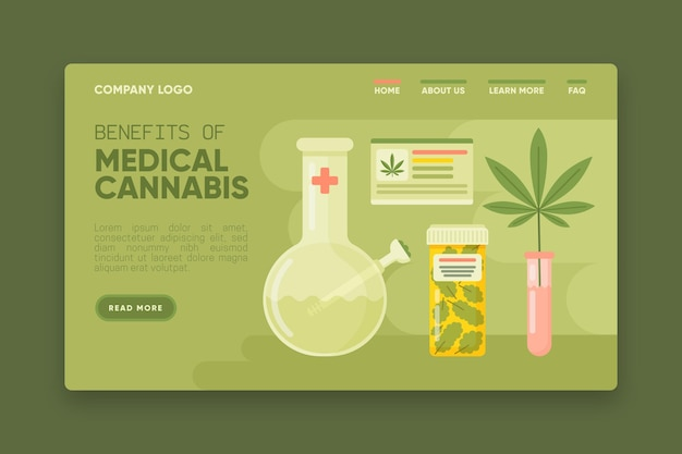 Modelo de web de benefícios de cannabis medicinal