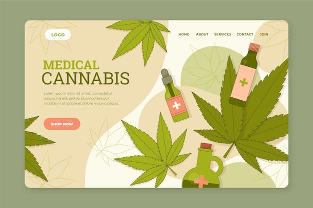 Modelo de web de cannabis medicinal