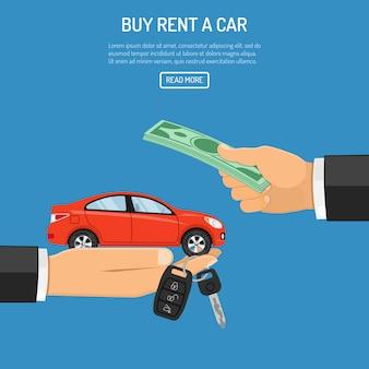 Modelo de web de carro alugado