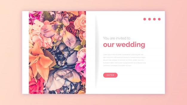 Modelo de web de casamento