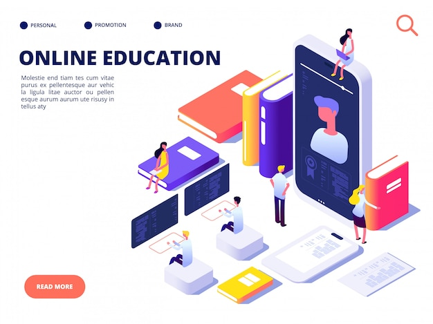 Modelo de web de educação on-line