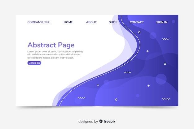 Modelo de web de página de destino corporativo com design abstrato Vetor grátis