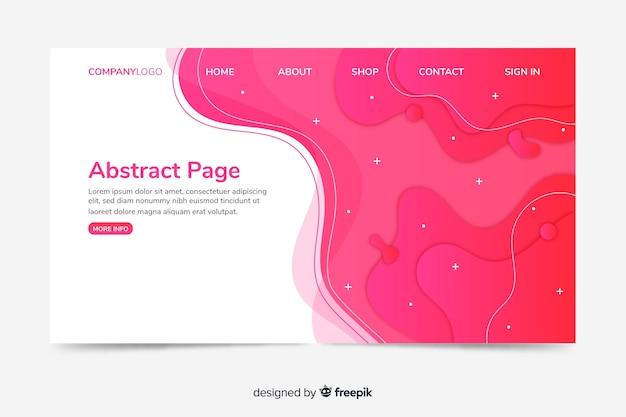 Modelo de web de página de destino corporativo com design abstrato