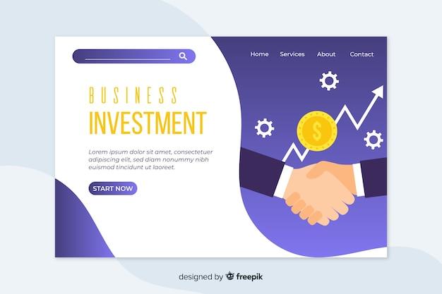 Modelo de web de página de destino corporativo para negócios ou agências