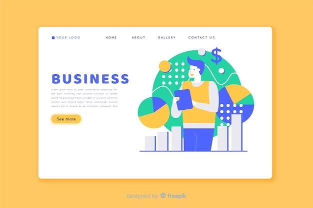 Modelo de web de página de destino de negócios