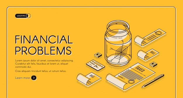 Modelo de web de problemas financeiros