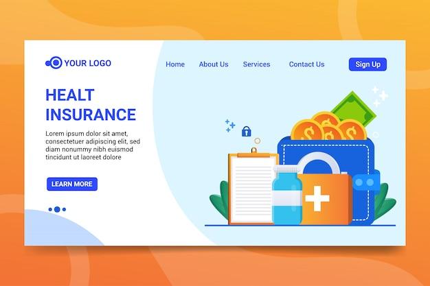 Modelo de web de seguro de saúde