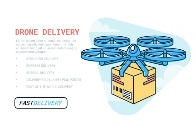 Modelo de web de serviço de entrega de drones.