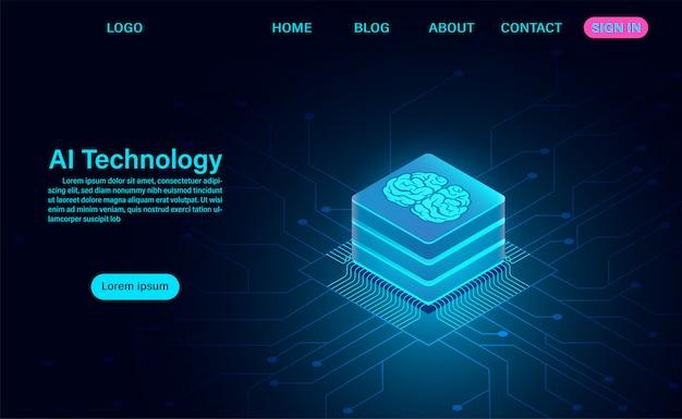 Modelo de web de tecnologia de inteligência artificial