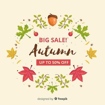 Modelo de web de venda outono