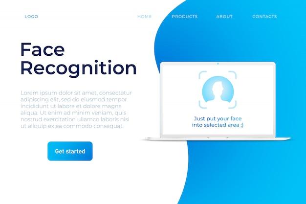 Modelo de web do sistema de reconhecimento de rosto