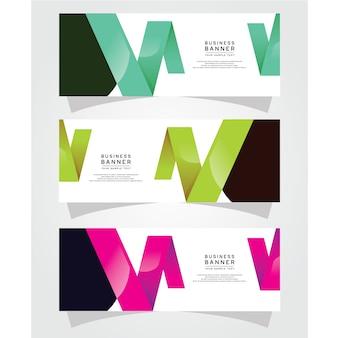 Modelo de web do vetor abstrato design banner