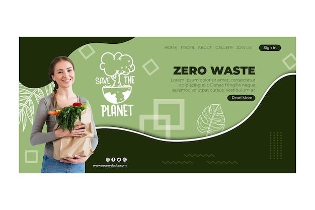 Modelo de web zero desperdício