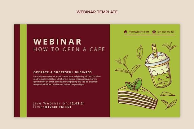 Modelo de webinar de comida de design plano
