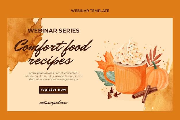 Modelo de webinar de comida em aquarela
