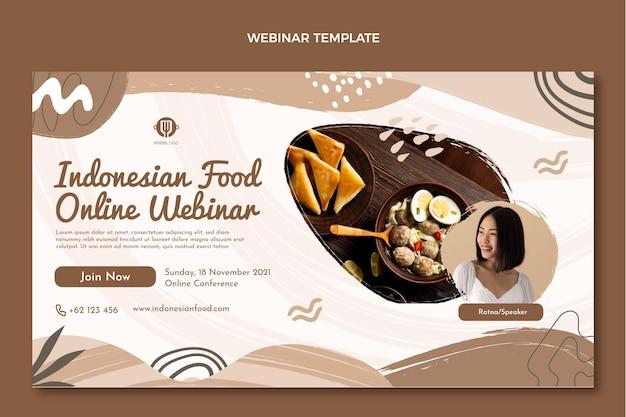 Modelo de webinar de comida plana