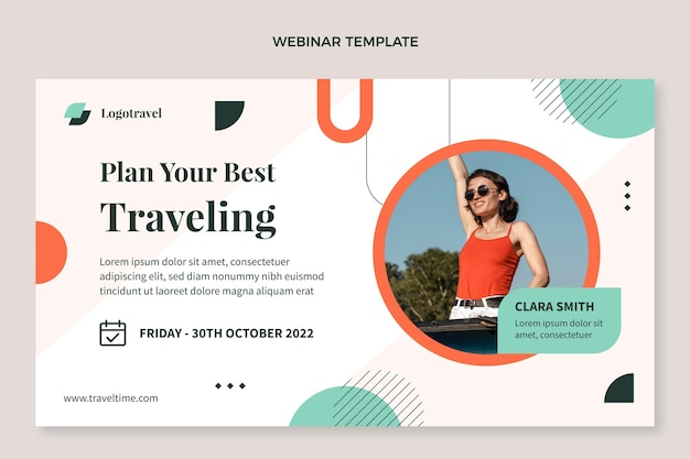 Modelo de webinar de viagens planas