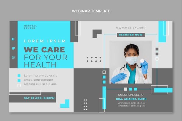 Modelo de webinar médico de design plano