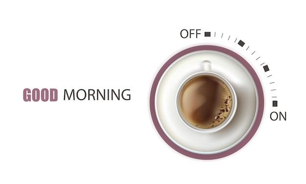 Modelo de xícara de café poderoso