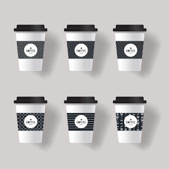 Modelo de xícara de café
