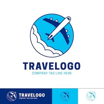 Modelo detalhado de logotipo de empresa de viagem