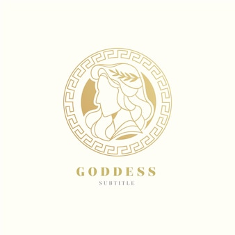 Modelo detalhado do logotipo da deusa