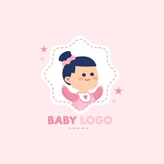 Modelo detalhado do logotipo do bebê