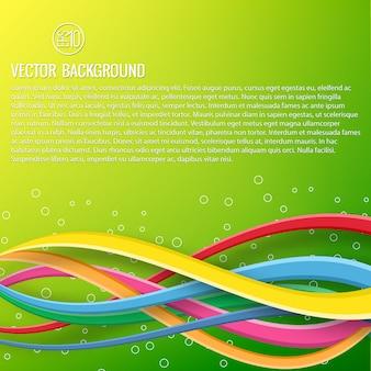 Modelo dinâmico colorido abstrato