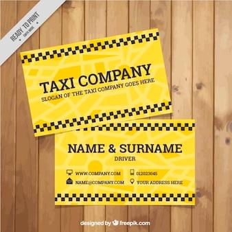 Modelo do cartão amarelo motorista de táxi