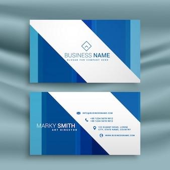 Modelo do cartão azul para a sua empresa