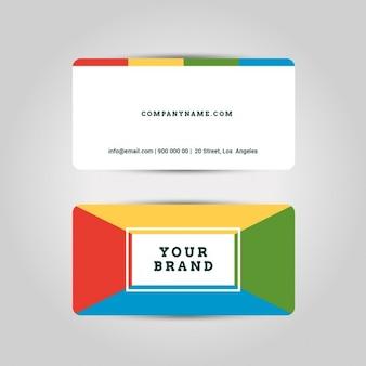 Modelo do cartão criativo e limpo e moderno