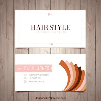 Modelo do cartão de cabeleireiro