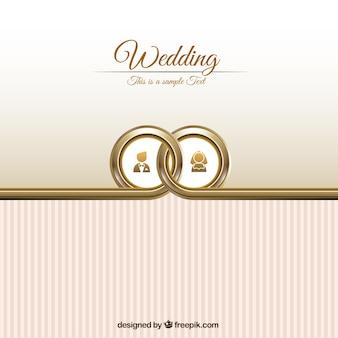 Modelo do cartão de casamento