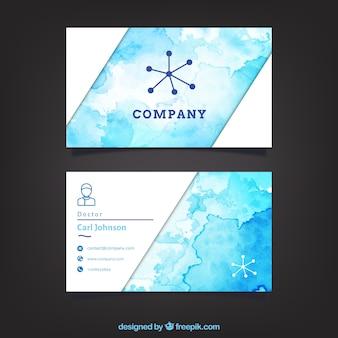Modelo do cartão de empresa watercolor