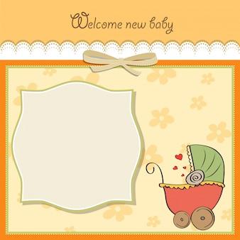 Modelo do cartão do anúncio do bebê
