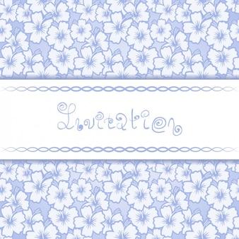 Modelo do cartão do convite do teste padrão floral