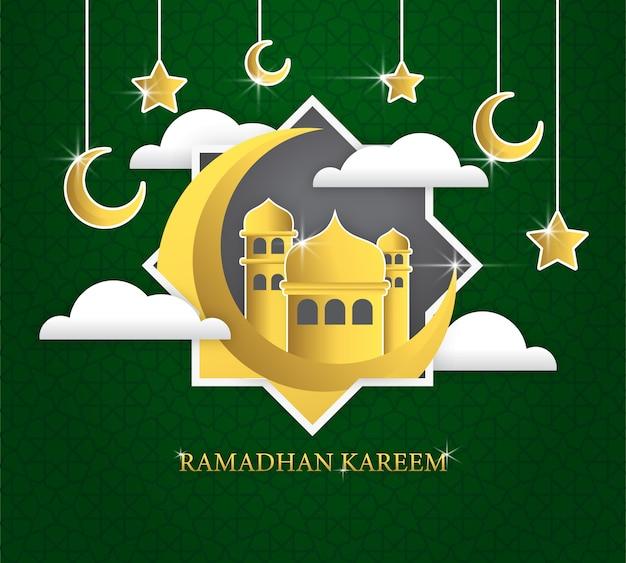 Modelo do cartão do ramadhan kareem