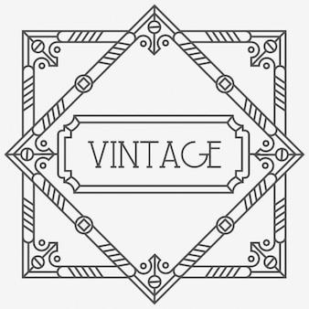 Modelo do cartão do vintage com frame decorativo