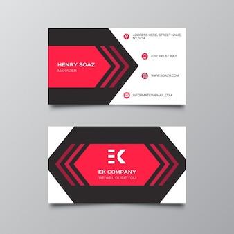 Modelo do cartão vermelho minimal