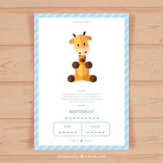 Modelo do convite cartão do baptismo