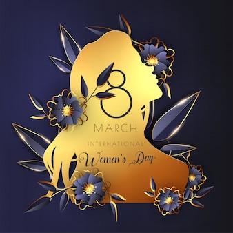 Modelo do dia internacional da mulher