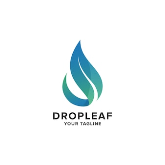 Modelo do logotipo aqua leaf