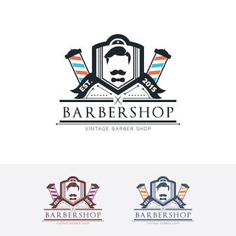 Modelo do logotipo da barbearia