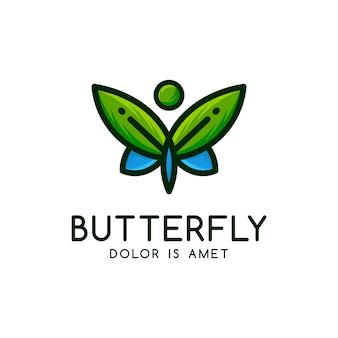 Modelo do logotipo da borboleta