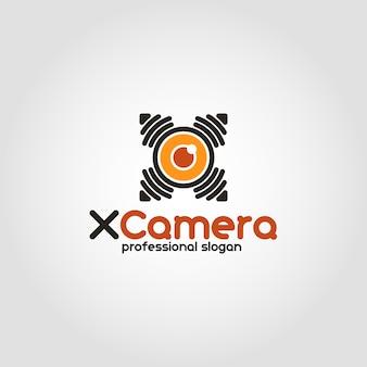 Modelo do logotipo da câmera drone