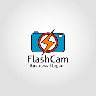 Modelo do logotipo da câmera flash